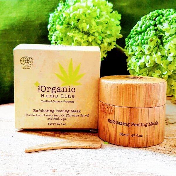 Masque exfoliant rafraîchissant: The Organic Hemp Line