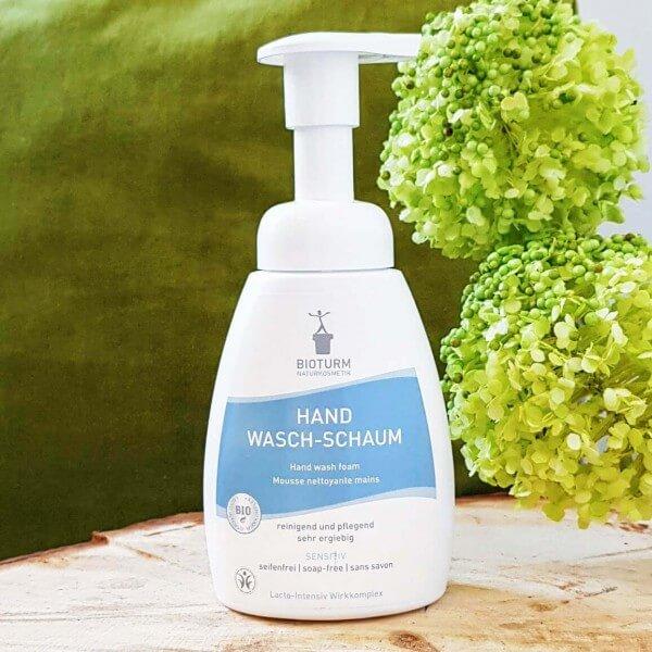 Mousse nettoyante mains sensibles bio