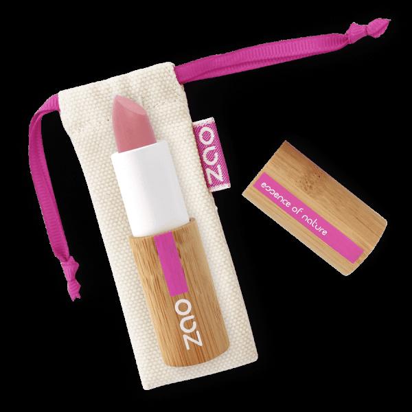 rouge à lèvres rechargeable mat soft bio longue tenue rose poudré N° 434