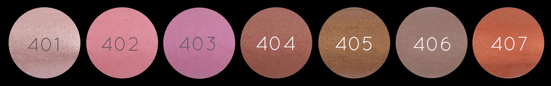 différentes teintes de rouges à lèvres nacrés